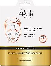 Parfums et Produits cosmétiques Masque tissu Tri-Peptide pour le visage - Lift4Skin Sheet-Mask Copper Tri-Peptide