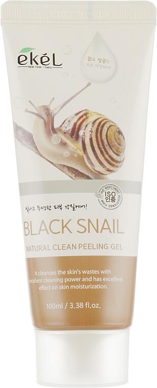 Gel peeling léger à la bave d'escargot pour visage - Ekel Natural Clean Peeling Gel Black Snail — Photo N2