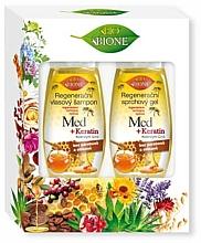 Parfums et Produits cosmétiques Coffret cadeau - Bione Cosmetics Honey + Q10 (shm/260ml+sh/gel/300ml)