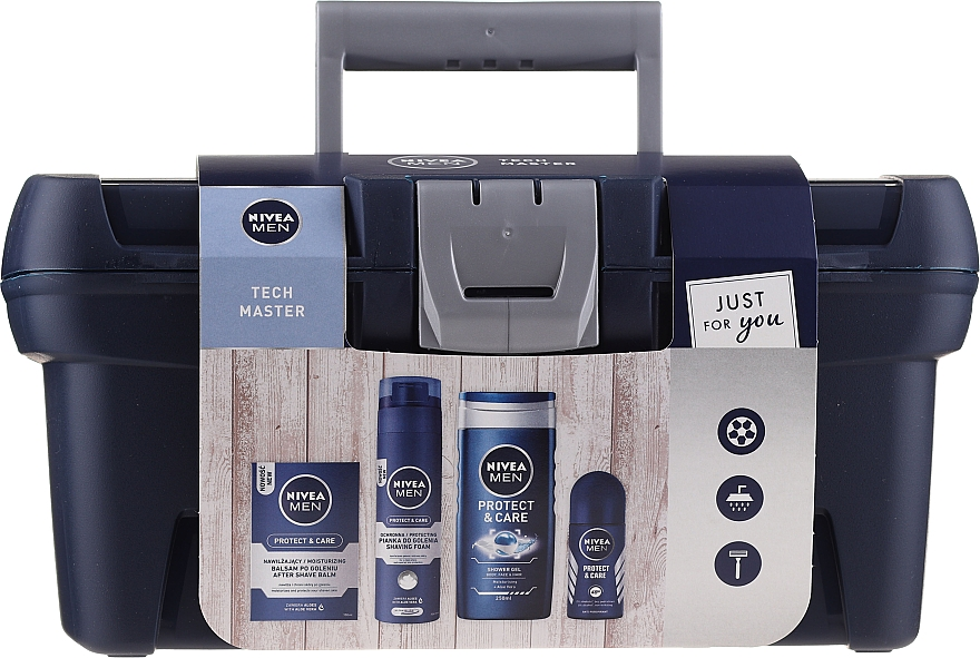 Coffret cadeau - Nivea Men Tech Master (af/sh/balm/100ml + foam/200ml + sh/gel/250ml + deo/50ml)