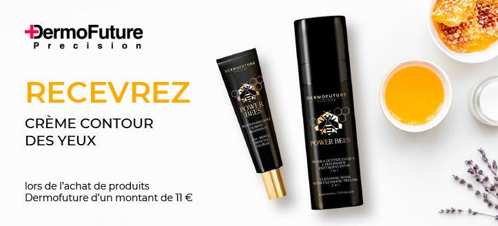 Lors de l'achat de produits Dermofuture pour un montant de 11 € ou plus, obtenez une crème anti-rides pour les contour des yeux cadeau