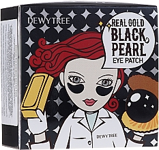 Parfums et Produits cosmétiques Patchs à l'Or et perles noirs pour contour des yeux - Dewytree Real Gold Black Pearls Eye Patch