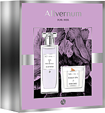 Parfums et Produits cosmétiques Allvernum Iris & Patchouli - Set (eau de parfum/50ml + bougie parfumée/100g)