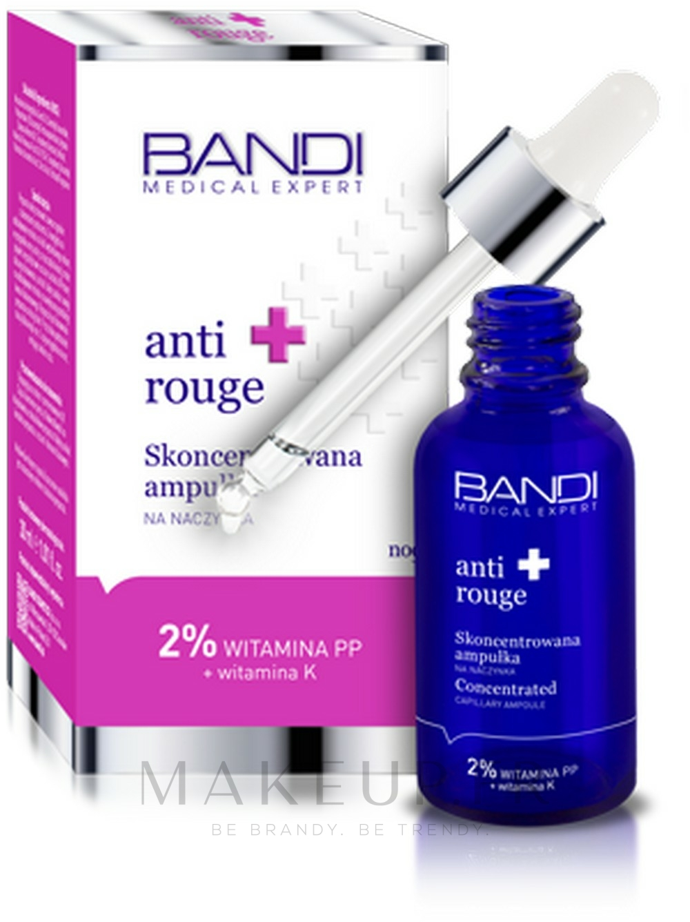Concentré de nuit en ampoule à l'extrait de racine de Kudzu pour visage - Bandi Medical Expert Anti Rouge Concentrated Ampoule — Photo 30 ml