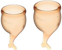 Parfums et Produits cosmétiques Lot de deux coupes menstrulles, orange - Satisfyer Feel Secure Menstrual Cups