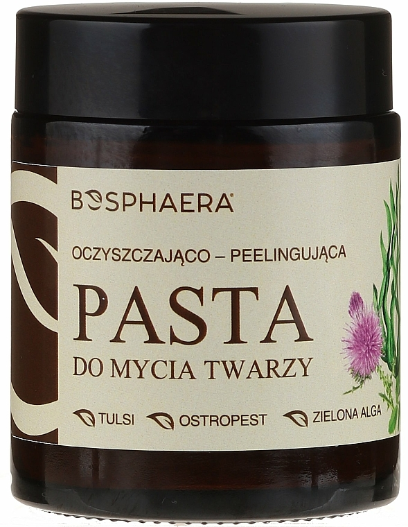 Pâte exfoliante à l'extrait d'algues vertes pour visage - Bosphaera