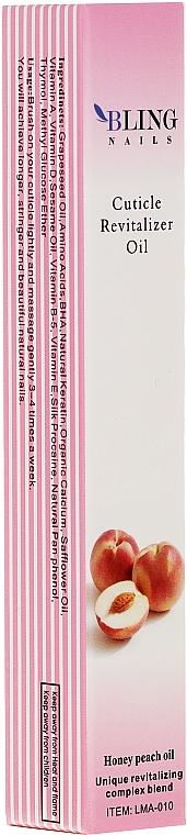 Huile pour cuticules, Pêche - Bling Nails Cuticle Revitalizer Oil Honey Peach Oil