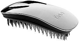 Parfums et Produits cosmétiques Brosse à cheveux compacte, noire métallique - Ikoo Home Metallic Oyster Black
