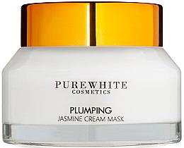 Parfums et Produits cosmétiques Crème-masque à l'extrait de jasmin pour visage - Pure White Cosmetics Plumping Jasmine Cream Mask