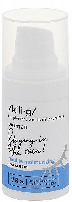 Crème à l'acide hyaluronique pour contour des yeux - Kili·g Woman Double-Effect Moisturizing Eye Cream
