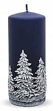Parfums et Produits cosmétiques Bougie décorative, Sapins de Noël, bleu, 7x18 cm - Artman Christmas Tree Candle
