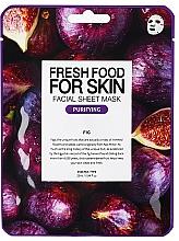 Parfums et Produits cosmétiques Masque tissu purifiant à l'extrait de figue pour visage - Superfood For Skin Facial Sheet Mask Fig Purifying