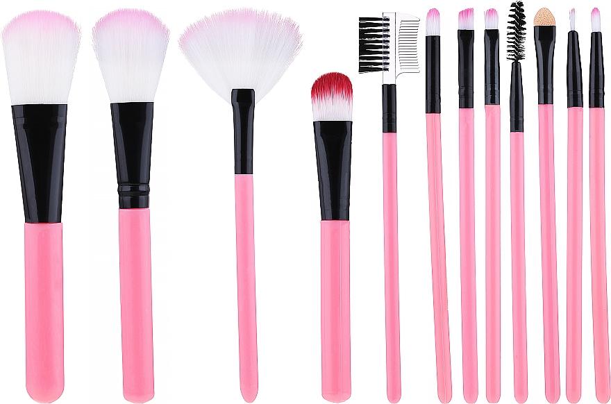 Kit pinceaux de maquillage, rose - Lewer
