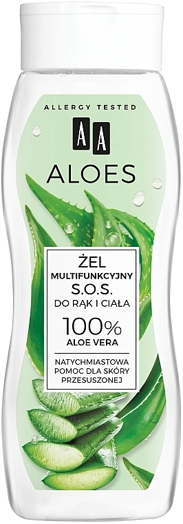 Gel d'aloe vera 100% pour mains et corps - AA Aloes 100% Aloe Vera Hand And Body SOS Gel