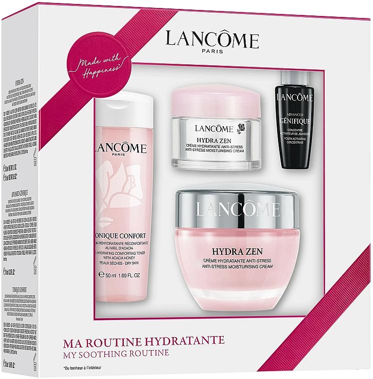 Lancome Hydra Zen - Coffret (lotion tonique/50ml + concentré/7ml + crème pour visage/15ml + crème pour visage/50ml)