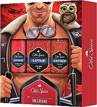 Parfums et Produits cosmétiques Old Spice Capitain Aviator - Set(déodorant spray/150ml + lotion après-rasage/100ml + gel douche/50ml)