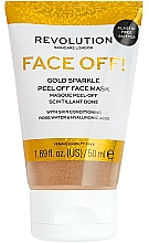 Parfums et Produits cosmétiques Masque-peeling pour visage - Revolution Skincare Face Off! Gold Glitter Face Off Mask