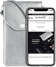 Parfums et Produits cosmétiques Étui argent pour téléphone - Makeup Phone Case Crossbody Silver