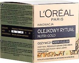 Parfums et Produits cosmétiques Crème-huile à l'extrait de jasmin blanc pour visage - L'Oreal Paris Nutri Gold Cream-Oil