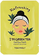Parfums et Produits cosmétiques Patchs gel à l'extrait de thé vert pour contour des yeux - Tony Moly Refreshing Im Green Tea Eye Mask