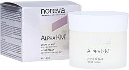 Parfums et Produits cosmétiques Crème de nuit à l'huile d'amande douce et acide glycolique - Noreva Laboratoires Alpha KM Night Cream Corrective Anti-Wrinkle Care