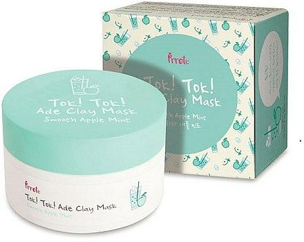 Masque à l'argile et extrait de menthe pour visage - Prreti Tok Tok Ade Clay Mask Smooth Apple Mint