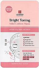 Parfums et Produits cosmétiques Masque tissu tonifiiant et éclairant pour visage - Leaders Ex Solution Bright Toning Mild Cotton Mask
