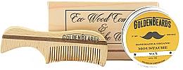 Parfums et Produits cosmétiques Golden Beards Moustache Wax Kit + Comb - Set (cire à moustache/15 ml + peigne)