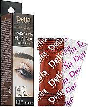 Parfums et Produits cosmétiques Poudre de henné pour sourcils - Delia Brow Dye Henna Traditional Brown