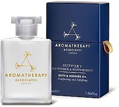 Parfums et Produits cosmétiques Huile de bain et douche à l'huile de lavande et de menthe poivrée - Aromatherapy Associates Support Lavender & Peppermint Bath & Shower Oil