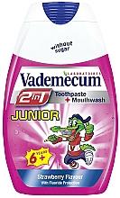 Parfums et Produits cosmétiques Dentifrice et bain de bouche à la fraise - Vademecum Junior 2in1 Toothpaste + Mouthwash