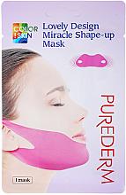 Parfums et Produits cosmétiques Masque pour la zone du menton - Purederm Lovely Design Miracle Shape-up V-line Mask