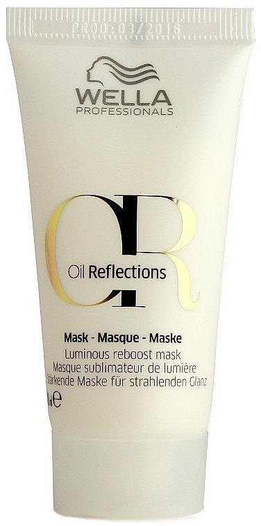 Masque à l'extrait de thé blanc pour cheveux (mini) - Wella Professionals Oil Reflections Luminous Reboost Mask