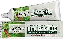 Parfums et Produits cosmétiques Dentifrice à l'huile d'arbre à thé et cannelle - Jason Natural Cosmetics Healthy Mouth Tartar Control Toothpaste