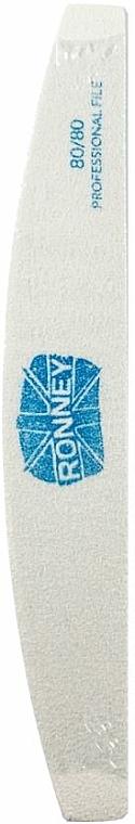 Lime à ongles, 80/80, blanc, croissant - Ronney Professional