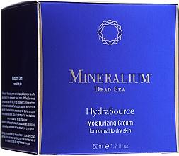 Parfums et Produits cosmétiques Crème à l'extrait d'aloe vera pour visage - Mineralium Dead Sea HydraSource Moisturizing Cream For Normal To Dry Skin