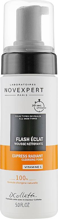 Mousse nettoyante à l'extrait de papaye pour visage - Novexpert Vitamin C Express Radiant Cleansing Foam — Photo N1