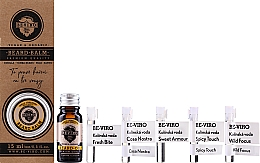 Parfums et Produits cosmétiques Beviro Vanilla Palo Santo Tonka Boby - Set (huile à barbe/10ml + baume à barbe/15ml + eau de Cologne/5x1ml)
