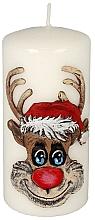 Parfums et Produits cosmétiques Bougie décorative Rudolphe, blanc - Artman Christmas Candle Rudolf White
