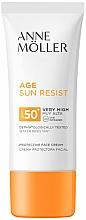 Parfums et Produits cosmétiques Crème solaire à l'extrait d'algues pour visage - Anne Moller Age Sun Resist Protective Face Cream SPF50+