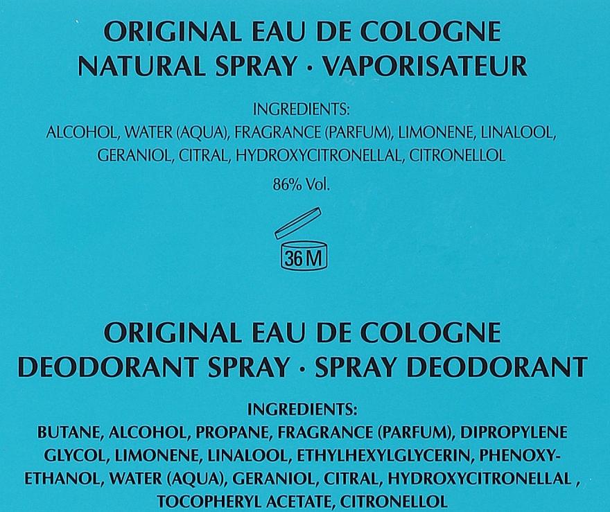Maurer & Wirtz 4711 Original Eau de Cologne - Set (eau de cologne/90ml + déodorant/90ml) — Photo N5