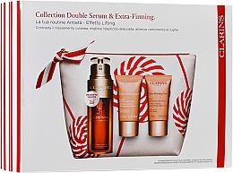 Parfums et Produits cosmétiques Coffret cadeau - Clarins Double Serum & Extra-Firming Set (serum/30ml + cr/15ml + cr/15ml + bag)