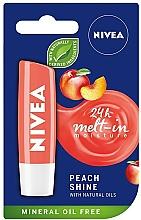 Parfums et Produits cosmétiques Baume à lèvres à l'huile de jojoba bio, Pêche - Nivea Lip Care Peach Shine Lip Balm
