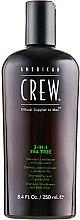Parfums et Produits cosmétiques Shampooing, après-shampooing et gel douche à l'arbre à thé - American Crew Tea Tree 3-in-1 Shampoo, Conditioner and Body Wash
