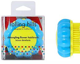 Parfums et Produits cosmétiques Brosse à cheveux démêlante, bleu-jaune - Rolling Hills Brosse Desenredar Flower