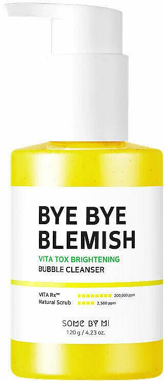 Mousse nettoyante à l'extrait de yuzu pour visage - Some By Mi Bye Bye Blemish Vita Tox Brightening Bubble Cleanser