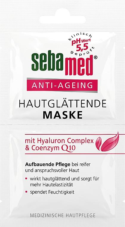 Masque à l'acide hyaluronique et coenzyme Q10 pour visage - Sebamed Anti-Ageing Q10 Hyaluron Face Mask — Photo N1