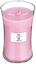 Parfums et Produits cosmétiques Bougie parfumée avec mèche en bois, Rose - WoodWick Hourglass Candle Rose