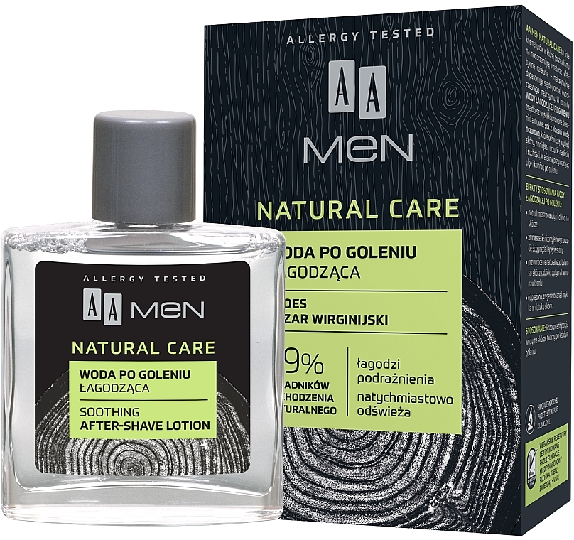 Lotion après-rsage au jus d'aloe vera - AA Men Natural Care Sooting After-Shave Lotion