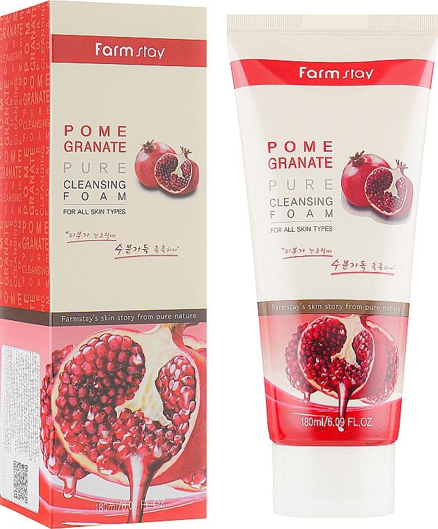Mousse nettoyante à l'extrait de grenade pour visage - Farmstay Pomegranate Pure Cleansing Foam